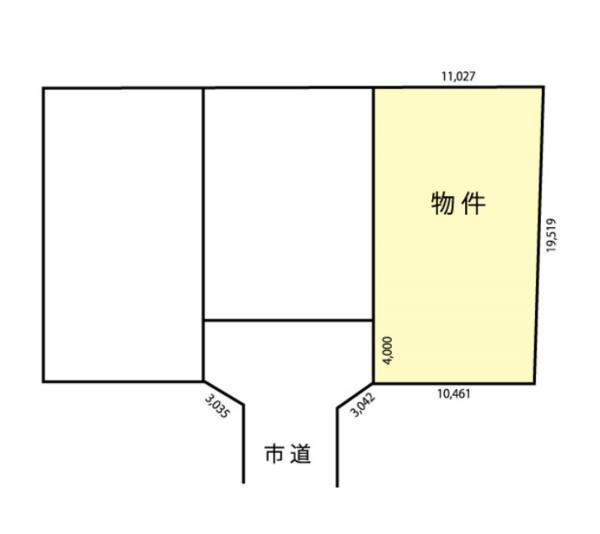 物件No. 〈建築条件付分譲地〉〈区画E〉塩尻西20955 塩尻市大門五番町