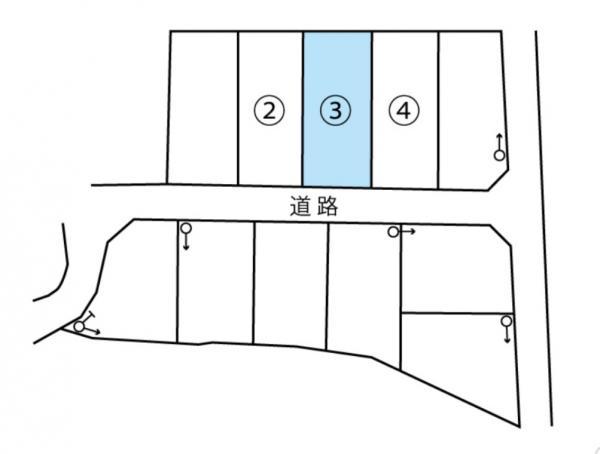 物件No. 〈売土地〉鎌田21016〈区画3〉 松本市笹部2丁目